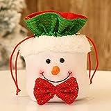 Ceally Sacs de Bonbons de noël, sachets à Bonbons Père Noël Bonhomme de Neige Elk Style Lovely Sac à friandises Enfant Amant fête de Mariage Vacances Nouvel an Vacances (C)