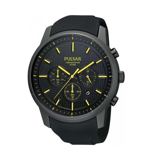 Pulsar Uhren Herren-Armbanduhr XL Modern Chronograph Quarz Kautschuk PT3193X1