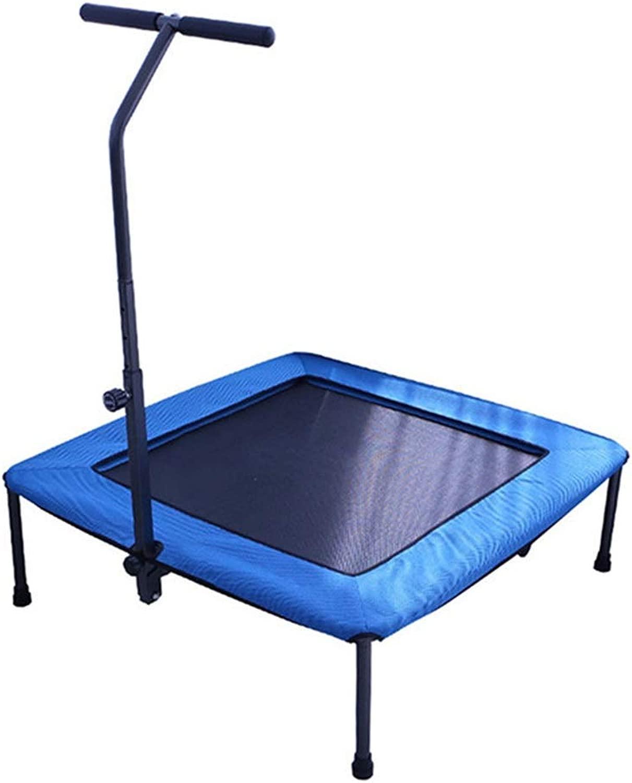 屋内 大人のトランポリン 調節可能な肘掛け付き スクエアベッド 保護カバー 弾性ロープ 安定した 折りたたみ式収納 (Color : 青, Size : 94x30cm)
