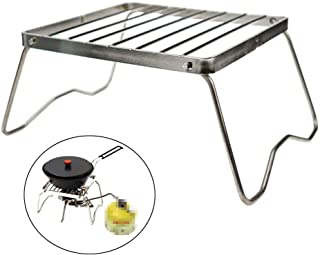 Ultrafun Portable Camping Grill Compact Mini Stainless Steel Campfire Charcoal Gas BBQ Grill Rack for Backpacking, Hiking,...