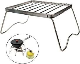 Ultrafun Portable Camping Grill Compact Mini Stainless Steel Campfire Charcoal Gas BBQ Grill Rack for Backpacking, Hiking, Picnics, Fishing