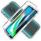 LXHGrowH Funda para Moto G9 Play - Carcasa Completa Anti-Shock [360°] Full Body Protección [Silicona TPU Frente] y [Duro PC Back] para Motorola Moto G9 Play/Moto E7 Plus - Cover Doble [Transparente]