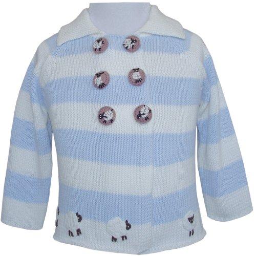 Powell Craft tricotés à la main, autour de la ferme bébé landau manteau, cardigan