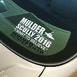車 ステッカーデカール-X-Files Mulder / Scully2020選挙大統領選挙デカールカーウィンドウバンパービニールステッカー取り外し可能なデカール装飾-QT457は白を信じる-19x17cm