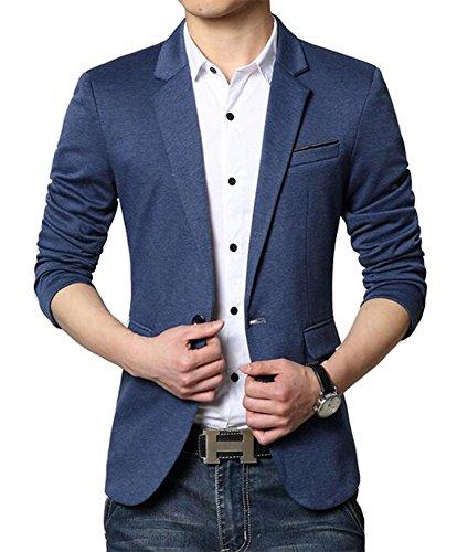 4. Beninos Men's Premium Casual One Button Slim-Fit Blazer Jacket