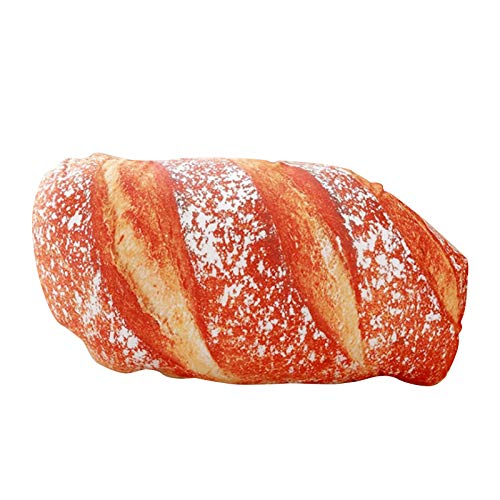 Home Decor, 3D Simulation Bread Shape Pillow Soft Lumbar Back Cushion Plush Stuffed Toy St. Patrick's Day, Easter, Ramadan Onsale