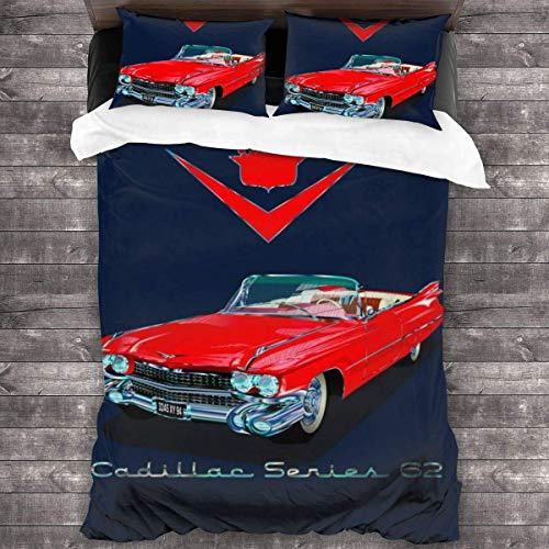 1959 Cadillac Series 62 3-teiliges Bettwäscheset Bettbezug, dekoratives 3-teiliges Bettwäscheset mit 2 Kissenbezügen C11999