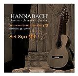 Hannabach Cuerdas para guitarra clásica, Serie 890 Guitarra para niños, tamaño 1/8 Diapasón 44-48 cm - cuerda suelta G3/Sol3 entorchado