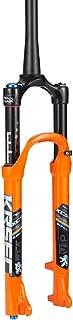 HIOD Bike Forks Mountain Bike Shock Absorption Suspension Shoulder Control Fork MTB Bicycle Fork with Damping Rebound Adjustment,Orange-A,29-inch