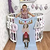 WHITNEY Weihnachten Elch Handgestrickte Baumwolle Nickerchen Decke Für Kinder Baby Weiche Handtuch Quilt Wirft Wrap Geschenk