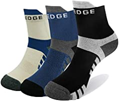 YUEDGE 5 Pares Hombres Senderismo Calcetines para Trekking Camping Ciclismo Tenis, Transpirable, Antideslizante,...