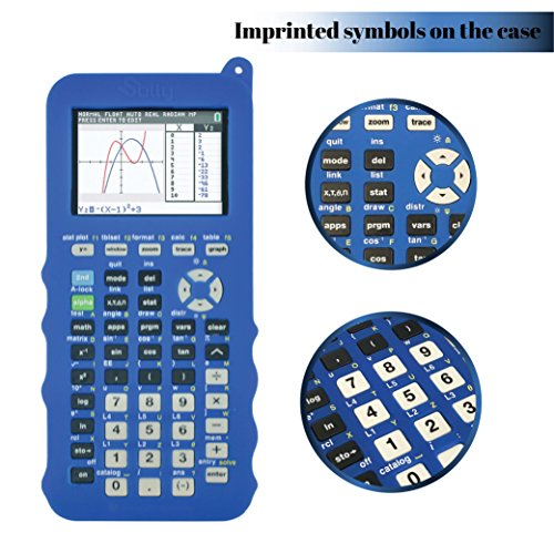 Silicone Case for Ti 84 Plus CE Calculator (Blue) - Cover for Texas Instruments Ti-84 Graphing Calculator - Silicon Skin for Ti84 Plus - Protective & Anti-Scretch Cases - Ti 84 Accessories by Sully Photo #5
