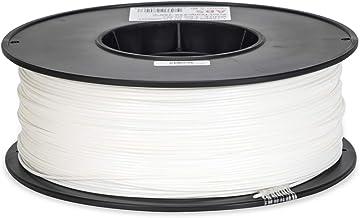 Inland 1.75mm White ABS 3D Printer Filament - 1kg Spool (2.2 lbs)