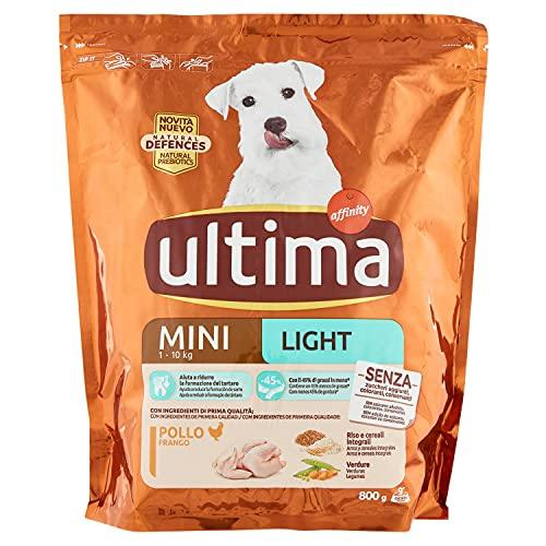 Ultima Crocchette Mini Light Pollo per Cani, 800g