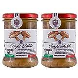 TENUTA POZZI Funghi Shiitake (lentinus edodes) in olio di Oliva e olio di Cartamo (2 x 280 gr), Made in Italy, Conserva di Funghi Shiitake