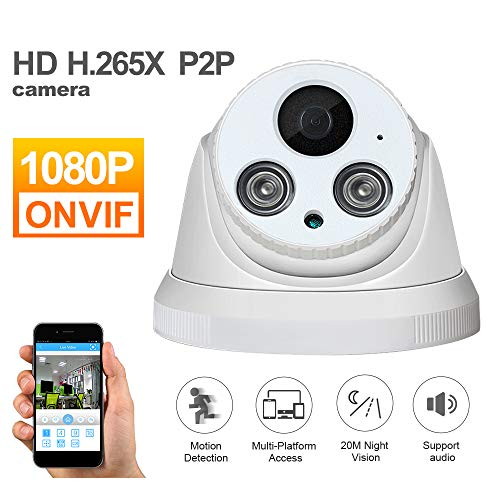 WMWHALE Cámara de Seguridad para el hogar Cámara IP de 1080P HD Interior con Alarma Visión Nocturna Detección de Movimiento Alarma Audio Grabar CCTV ONVIF Cámara de vigilancia