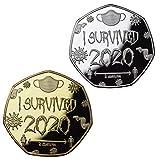 LUCKYYL Monedas conmemorativas de I Survived 2020, Monedas conmemorativas de Plata para copias, Monedas conmemorativas...