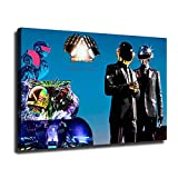 Daft Punk Poster Classic band music Canvas Wall Art Office Poster Print (24x36inch,No Framed)