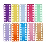 HERCHR Organizador de Hilo de Bordar de 20 Posiciones, 20 Piezas, Tablero de Almacenamiento de Hilos de plástico de Color para Manualidades de Costura de Punto de Cruz, 7.7 x 3.1in