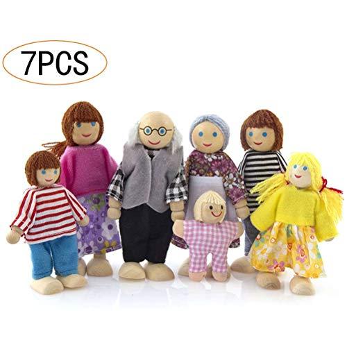 Auplew - Casa de muñecas (madera, 7 personas)