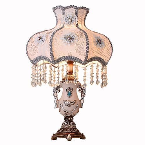 TOMSSL Lámpara Hogar Estadounidense Lámpara De Escritorio Creativa Romántica Matrimonio Lámpara De Mesa Lámpara De Mesa De Noche Dormitorio De Estilo Europeo 33 * 55cm