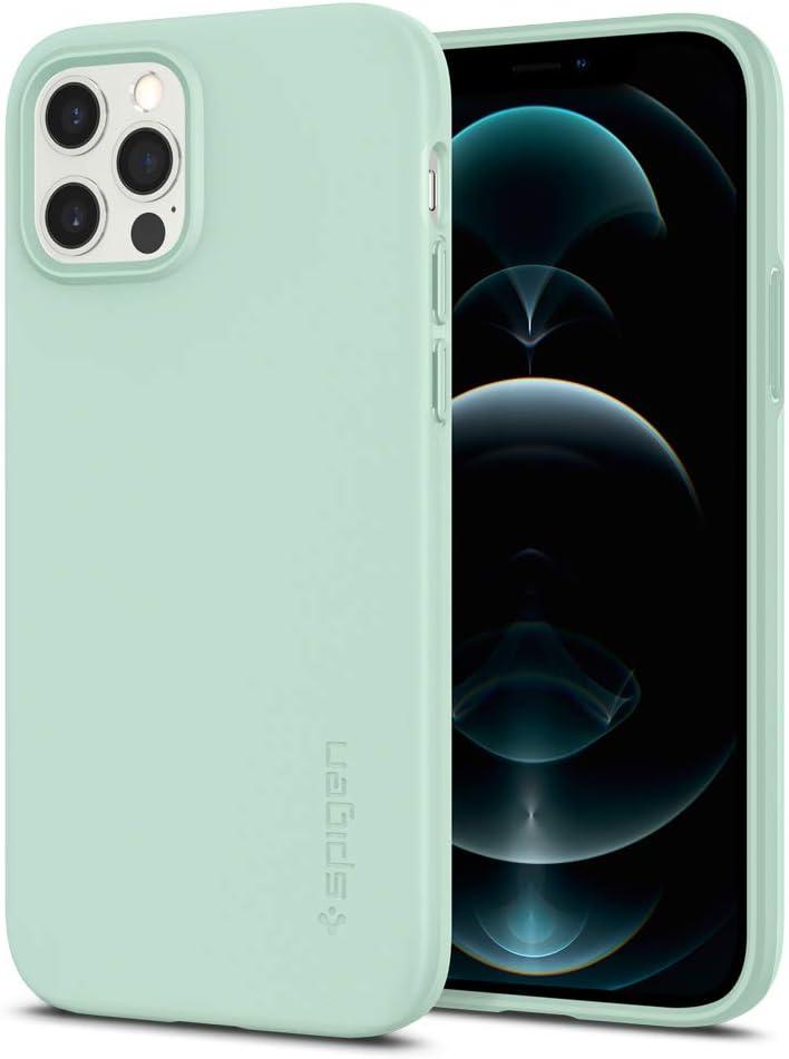 Spigen Thin Fit Designed for iPhone 12 / iPhone 12 Pro Case (2020) - Mint