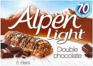 Alpen Light Bars Double Chocolate - 5 x 19g