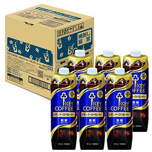 リキッドコーヒーテトラプリズマ 微糖 1L×6本 紙パック