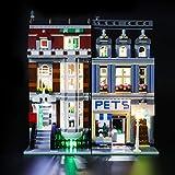 BRIKSMAX Kit de Iluminación Led para Lego Tienda de Mascotas,Compatible con Ladrillos de Construcción Lego Modelo 10218, Juego de Legos no Incluido