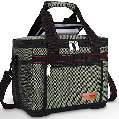 BALORAY Large Lunch Bag Picnic Bag Adult Lunch Box Cooler Cooling Tote for Adult Men Women, Large Lunch Cooler Tote with Shoulder Strap and Water Bottle Holder, Reusable Leak Proof Lunch Bags