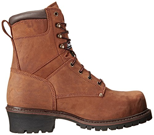 Ad Tec 9 Inch Super Logger Boots for Men, Insulated 100% Waterproof Steel-Toe Safety Work Boots for Men Brown