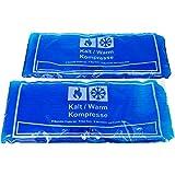 Compresa de gel frío y calor, apta para microondas y congelador (2 unidades de 29 x 12 cm)