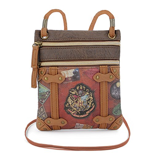 Karactermania Harry Potter Railway - Bolso Bandolera Action Mini Vertical, Marrón, 17 cm