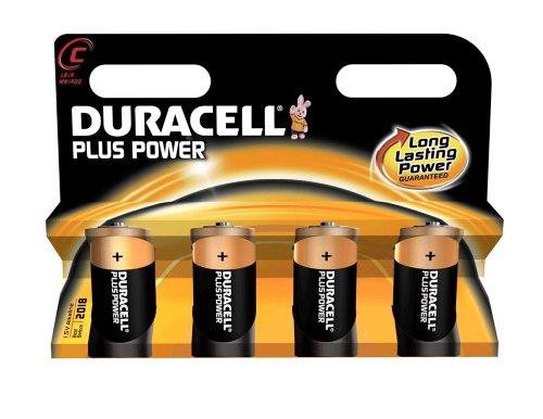 DURACELL Batterie Alkaline, Baby, C, LR14, 1.5V Plus Power, Retail Blister (4-Pack)