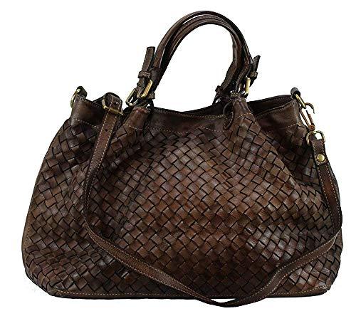 BZNA Rene Bag moro braun Italy Designer Damen Handtasche Schultertasche Tasche Schafsleder Shopper Neu