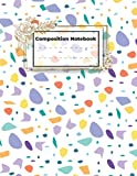 Composition NoteBook: Terrazzo Flooring Cover composition notebook for writers and students. Floral Cover with Inspirational Quotes on Each Page