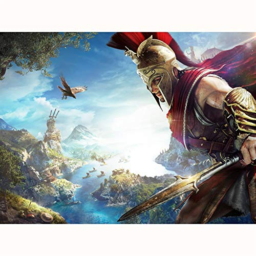 FENGZI Assassin Creed Odyssey Movie Cover Puzzle 300/500/1000/1500 Piece Piece Teen Youth Challenge Game Toys Challenge Juguetes (Size : 300Pieces)