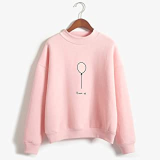 Balloon Women's Pullover Sweatshirt, Cute Striped Pullover, Long Sleeve Casual Jumper Tops Blouse, Clothes Teens Girls Boys