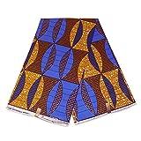 Afrikanischer Stoff, blaue Senf-Punkte, Wachstuch –