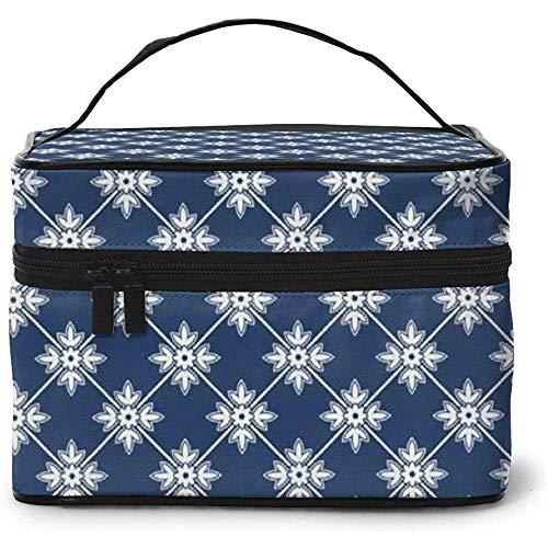 Floral Flower Leaf Details Portable Ladies Travel Cosmetic Case Bag Storage Makeup Pouch Multi-Function Wash Large Capacity