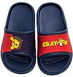 Niño Niña Slide Sandalias y chanclas Zapatos de Playa y Piscina Unisex Niños Zapatillas Baño de Estar por Casa Verano Azul -Navy 22/23 EU=150CN