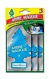 Arbre Magique Tris, Deodorante Auto, Fragranza Fresh Water, Profumazione Prolungata fino a 7 Settimane, Confezione Tripla