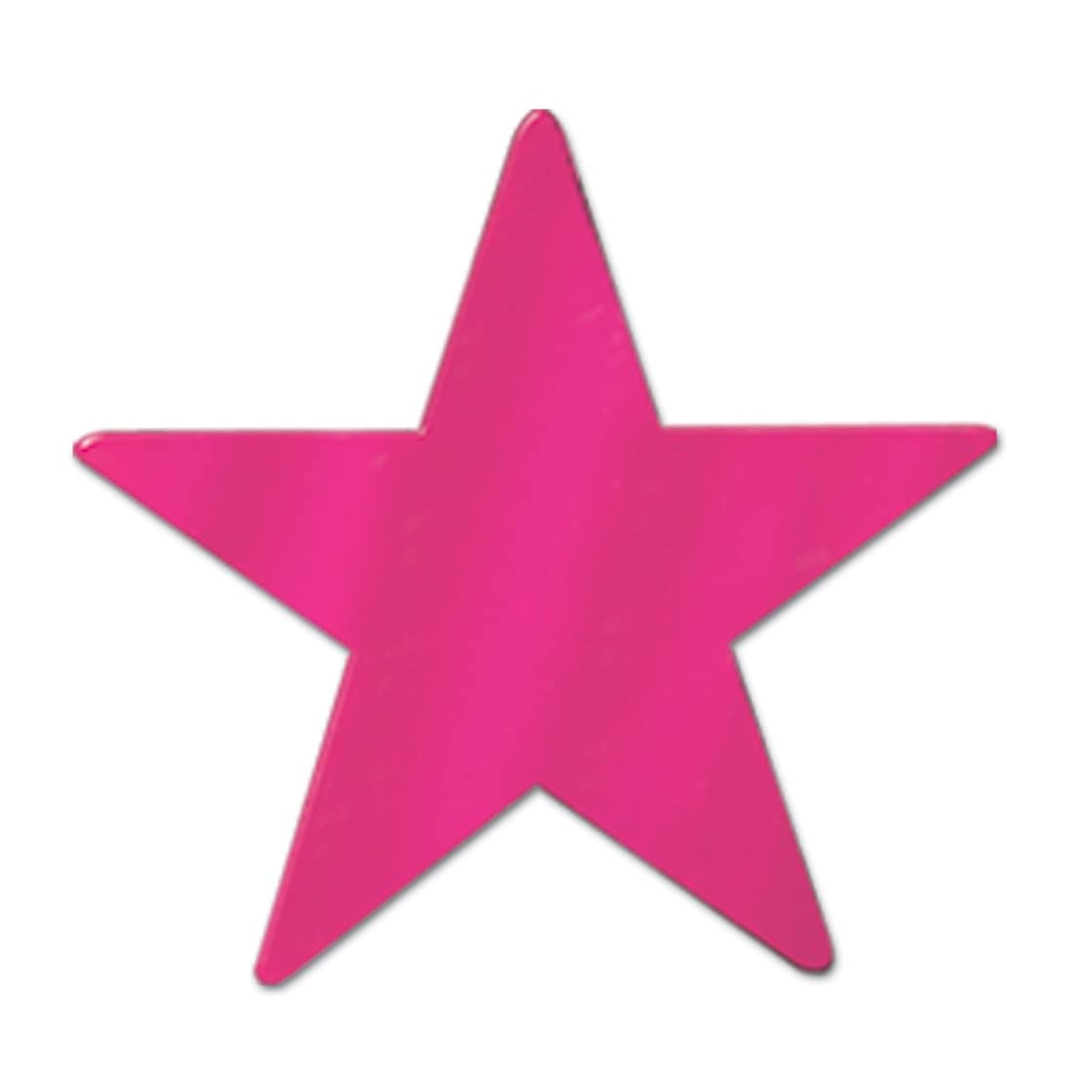 Beistle 57027-C Cerise Metallic Star Cutouts, 3-1/2 Inch, 12 Pieces Per Package
