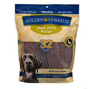 PACK OF 2 – Golden Rewards Duck Jerky Dog Treats, 32 oz