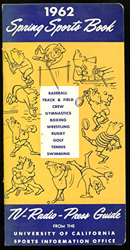 1962 CAL Bears Spring Sports Media Guide Track Field Baseball Golf Ex Cond 1014
