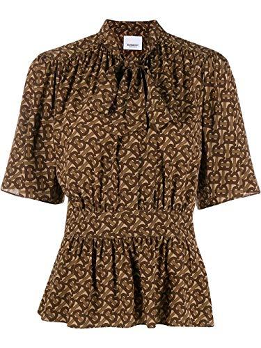 BURBERRY Luxury Fashion Damen 8024100 Braun Seide Bluse | Frühling Sommer 20