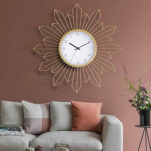 MingXinJia Home Bedside Clocks Wall Clock Large Decorative Wall Clock Non Ticking Modern Wall Clock Metal Rustic Wall Clock with Silent Movement Metal Dial Clock for Living Room Bedroom Office Space
