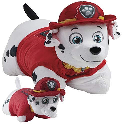 Pillow Pets Nickelodeon Paw Parol Marshall Set, 16' Marshall 5' Marshall Mini, Plush Stuffed Animal Toys, Multicolor, Paw Patrol Marshall
