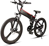 Bicicletas Eléctricas, De 26 pulgadas de bicicletas de montaña eléctrica bicicleta asistida eléctrica con extraíble de gran capacidad de iones de litio (48V 350W) 21 Speed Gear y tres modos de traba
