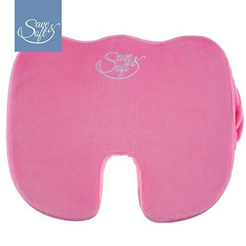 Cuscino ergonomico in Schiuma di Lattice Memory Save&Soft – Guanciale Ortopedico per Sedia da Ufficio, Auto, Aereo, Sedia a rotelle - Design ergonomico per alleviare Cervicale e Mal di Schiena